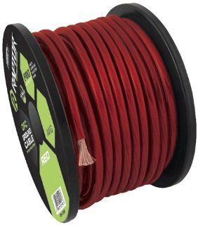 Raptor R58 250R 250 Feet Pro Series Oxygen Free Copper Power Cable, Red  Vehicle Amplifier Power And Ground Cables