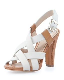 Vy Two Tone Crisscross Sandal, Brown Multi   Pour la Victoire