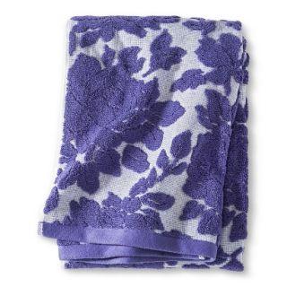 Threshold Floral Bath Towel   Purple