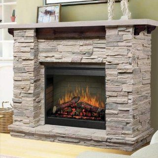 Dimplex Featherston 61 inch Electric Fireplace   Ledge Rock   Gds26 1152lr: Home & Kitchen