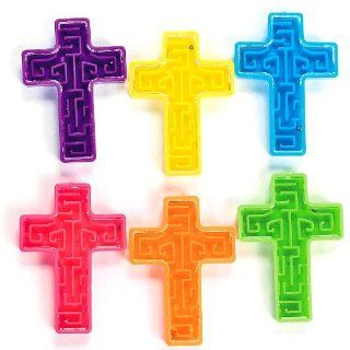 Bright Cross Maze Puzzles (6 dz): Toys & Games