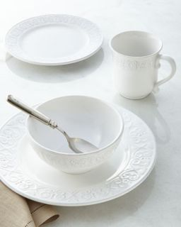 16 Piece Bella Mesa Calista White Dinnerware Service