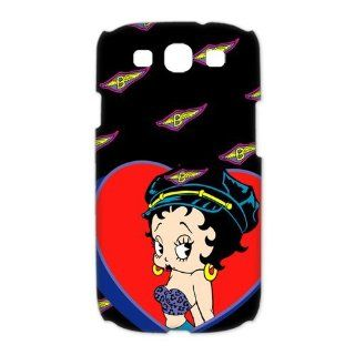 Betty Boop Samsung Galaxy S3 I9300/I9308/I939 Case Cartoon Star Unique Cases Cover Big Red Heart: Cell Phones & Accessories