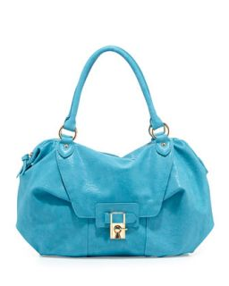 Daniela Turn Lock Satchel Bag, Turquoise   V Couture by Kooba