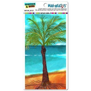 Graphics and More Palm Tree Blue Beach Tropical Ocean Vacation Hawaii Island Mag Neato's Car Refrigerator Locker Vinyl Magnet   Automotive Decals