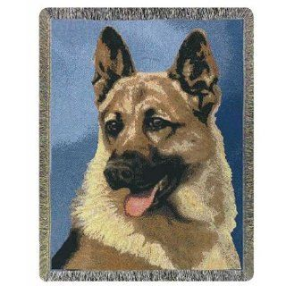 German Shepherd Dogs Cotton Tapestry Throw Blanket: Pet Supplies