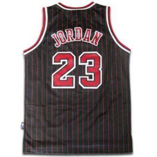 Michael Jordan #23 Chicago Bulls NBA Jersey Black Pinstripe Size XL : Basketball Equipment : Sports & Outdoors