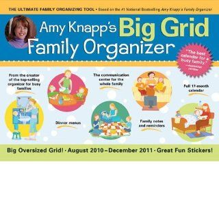 Amy Knapp's Big Grid Family Organizer 2011 Deluxe Wall Calendar (17 month)