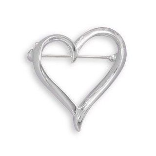 Open Heart Fashion Pin: West Coast Jewelry: Jewelry