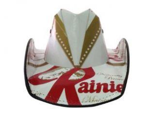 Licensed Rainier Beer Cowboy Style Beer Hat at  Men�s Clothing store