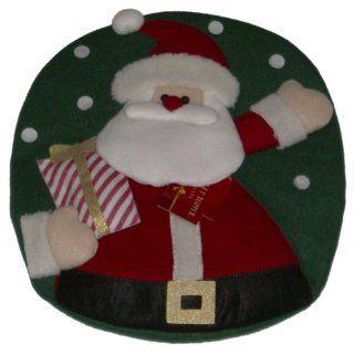 BB&B Santa Toilet Lid Cover Darling Christmas Bath Decor   Bathroom Accessories
