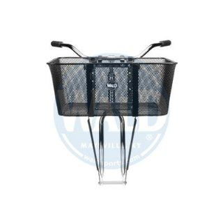 Wald 957 Front Mesh Bicycle Basket (21 x 15 x 9, Black)  Bike Baskets  Sports & Outdoors