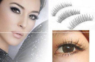 50 Pairs Natural Look Taiwan Handmade Fake False Eyelashes Eye Lashes Transparent Stem High Quality #217 Classical Eyelashes   MZZH15001 : Fake Eyelashes And Adhesives : Beauty