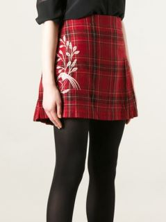 Clements Ribeiro Pleated Tartan Skirt   Mooi