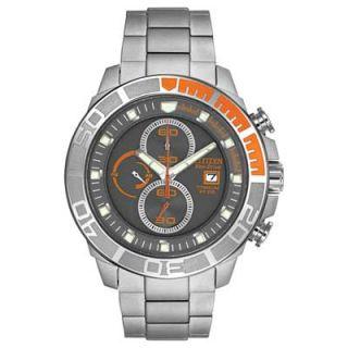 Mens Citizen Eco Drive™ Super Titanium Watch with Grey Dial (Model