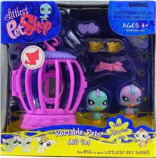 Littlest Pet Shop Happiest 930 Blue Canary and 931 Purple Canary Portable Gift Set: Toys & Games