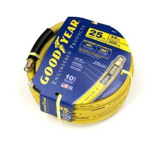 Goodyear EP 46544 3/8 Inch by 25 Feet 300 PSI Rubber Air Hose with 1/4 Inch MNPT Ends and Bend Restrictors   Air Tool Hoses