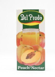 Del Prado All Natural Nectar, Peach, 31.975 Ounce Tetra Paks (Pack of 12) : Fruit Juices : Grocery & Gourmet Food