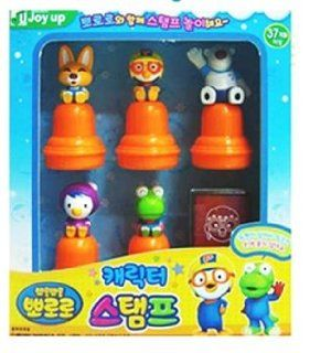 KOREAN TOY_ Mimi World _ Pororo character stamps (5 stamps)[001KR]: Toys & Games