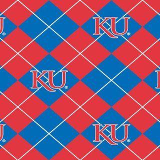 Collegiate Fleece University of Kansas Argyle Fabric: