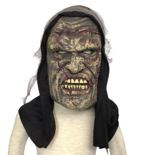 Moldy Zombie Face /Horror Rubber Mask with Veil Trick Toy Costume for Halloween Masquerade Party (6510 1) Toys & Games