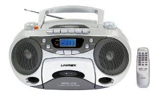 Unirex RX 949MP Portable Stereo CD Player With Radio Cassette Recorder   Players & Accessories
