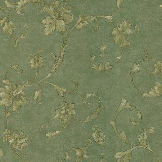 Mirage 987 56523 Elysium Grape Scroll Wallpaper, Green