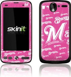 MLB   Milwaukee Brewers   Milwaukee Brewers   Pink Cap Logo Blast   HTC Desire A8181   Skinit Skin: Cell Phones & Accessories