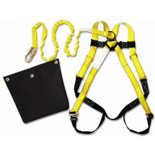 Guardian Fall Protection 17201 ALK IS 72 Aerial Lift Kit HUV 3 D Rings   01110, 4 Foot Non Shock Absorbing Lanyard   01260, and Aerial Lift Bag   Fall Arrest Restraint Ropes And Lanyards