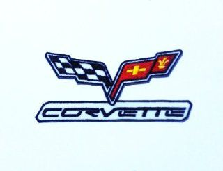 Corvette Logo Iron on Patch for Cloth, hat, jeans, t Shirt