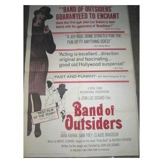 BAND OF OUTSIDERS / ORIGINAL U.S. ONE SHEET MOVIE POSTER (JEAN LUC GODARD) JEAN LUC GODARD Entertainment Collectibles