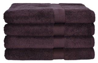 Calcot All American Line 100 Percent Supima Cotton 4 Piece Bath Towel Set, Coffee Bean