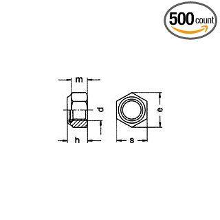 (500pcs) Metric DIN 982 M8X1.25 High Nylon Insert Lock Nut Steel Class 8 Ships Free in USA Hardware Locknuts Industrial & Scientific