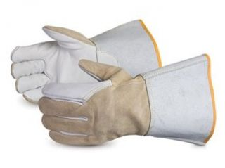 Superior 365HBR Precision Arc Maximum Dexterity Grain Horsehide Leather TIG Glove, Work, Large, White/Brown (Pack of 1 Dozen): Industrial & Scientific