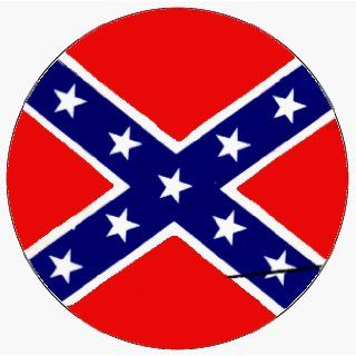 "Confederate Rebel Flag   1 1/4"" Button / Pin: Clothing"