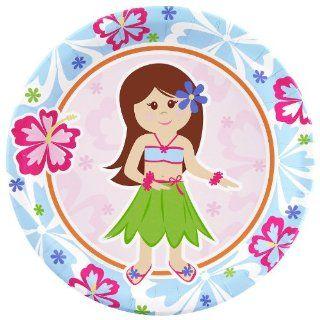 Hawaiian Girl Dinner Plates (8) Toys & Games