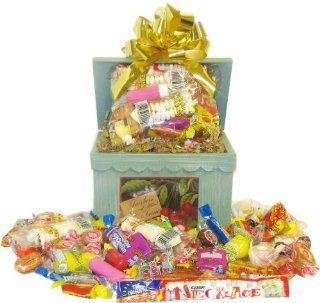 Wooden Recipe Box Full of Retro Candy : Gourmet Candy Gifts : Grocery & Gourmet Food