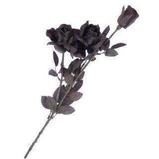 Accessory Decoration Dead Black Long Stem Roses Bouquet Clothing