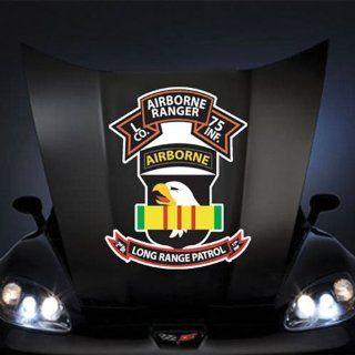 "US Army Vietnam L Co 75th Ranger 101st Abn Vn Ribbon Lrsd SSI 20"" Huge Decal Sticker: Automotive"