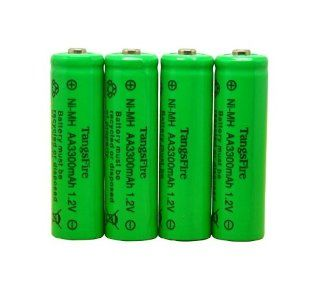 Tangsfire� 4pcs 1.2V 3300mAh Ni MH AA Rechargeable Batteries & Free AA/AAA 4 cell battery case   Cordless Tool Battery Packs