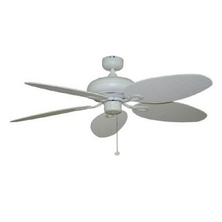 Harbor Breeze 52 in Tilghman Matte White Outdoor Ceiling Fan ENERGY STAR