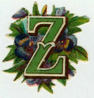 OLD FASHIONED ALPHABET LETTER Z