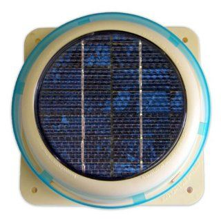 Solar Panel Ventilator Vent Fan for House, Home, Roof, Shed, Boat   Mounts on Roofing, Fiberglass, Wood, Metal, Glass almost any type of Surface  Solar Powered Fan Ventilator  Patio, Lawn & Garden
