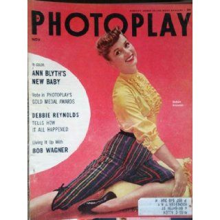 PHOTOPLAY magazine November 1954 with Debbie Reynolds on the cover. scarce. candid photos/articles on Judy Garland  four page spread with lots of photos with Sid Luft, with Lorna Luft, shots from STAR IS BORN. Also, articles / photos on Rock Hudson, Dean M