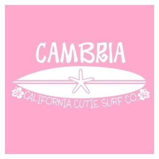Customized Surfboard Name Wall Decal Sticker with California Cutie Surfing Vinyl Decals Look Almost Painted On   Wall Decor Stickers