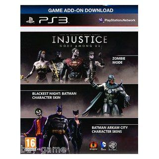Injustice : Gods Among Us PS3   Zombie Mode   Blackest Night  Arkham City Catwoman/Joker/Batman Skins DLC Code Card PlayStion 3 NO GAME: Video Games