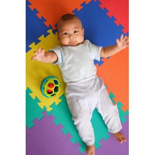 "24 Sq. Ft. (set of 24 + borders) 'We Sell Mats' Anti Fatige Interlocking EVA Foam Flooring Set of six Multi Color Tiles Each 12""x12""x3/8"" Thick  Toys And Games  Baby"