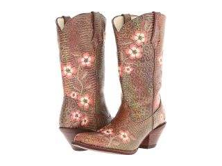Durango Crush 12 Floral Embroidered Boot Cowboy Boots (Brown)