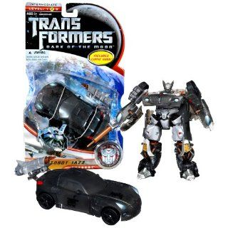 """Hasbro Year 2010 Transformers Movie Series 3 """"Dark of the Moon"""" Deluxe Class 6 Inch Tall Robot Action Figure   Autobot JAZZ with Telescoping Lance and Spoiler that Becomes Shield (Vehicle Mode: Pontiac Solstice): Toys & Games"""