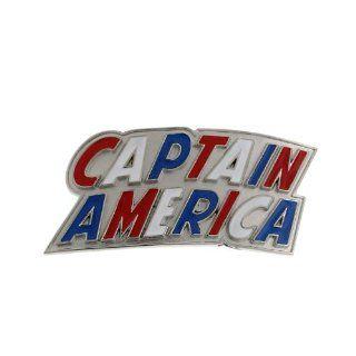 Superhero Captain America Letters Red White Blue Enamel Belt Buckle 1005 Jewelry
